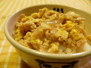 ひき肉de親子丼