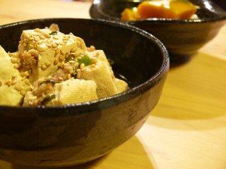 豆腐ひき肉炒め